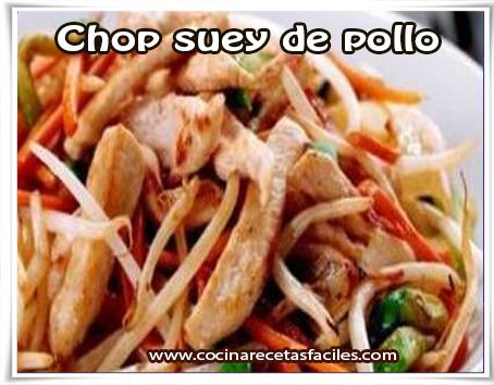 Recetas de pollo , chop suey de pollo