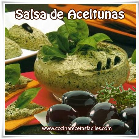 Recetas de salsas, receta de salsa de aceitunas