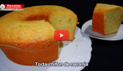 Torta chiffon de naranja - Vídeo recetas de tortas y pasteles