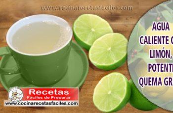 Agua caliente con limón, potente quema grasa - Bebidas para adelgazar