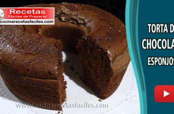 Torta de chocolate esponjosa - Recetas de tortas y pasteles