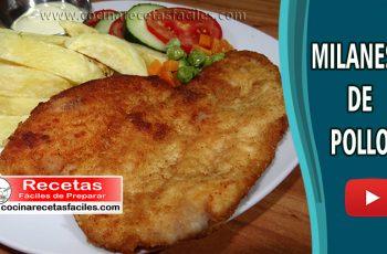 Milanesas de pollo - Vídeo recetas de pollo fáciles de preparar