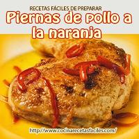 piernas pollo,harina,aceite,mantequilla,caldo,naranja,kion,pimiento,sal
