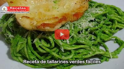 Receta de tallarines verdes f ciles v deo cocina for Almuerzos faciles caseros