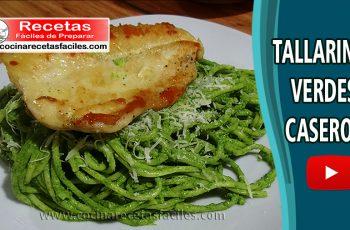 Tallarines verdes caseros - Recetas de Pastas y pizzas