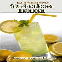 agua,limón,pepino,hierbabuena,azúcar