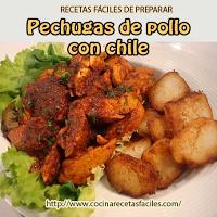 pollo,chiles,pimiento,vinagre,aceite,papas,perejil,ajo,hojas verdes