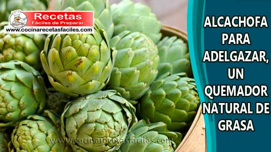 Recetas caseras alcachofa para adelgazar