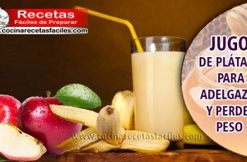 Jugo de plátano para adelgazar y perder peso - Bebidas para adelgazar