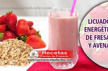 Licuado energético de fresas y avena - Jugos medicinales