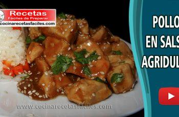 ▷ Pollo en salsa agridulce - Vídeo recetas de pollo fáciles