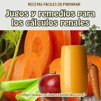 Jugos y remedios para los cálculos renales, excelentes recetas de jugos curativos para los cálculos renales