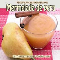 peras,azúcar,zumo de limón