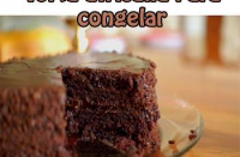 Torta africana para congelar - Recetas de tortas y pasteles