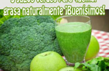 3 jugos verdes para quemar grasa naturalmente