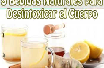 Desintoxica tu cuerpo con estas bebidas naturales
