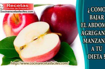 ¿ Cómo bajar el abdomen agregando manzanas a tu dieta ?