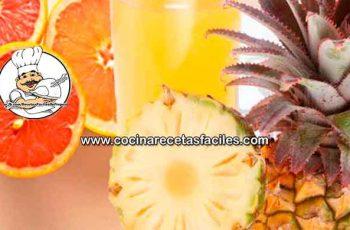 Jugo de piña y pomelo quema grasa - Bebidas adelgazantes