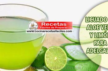 ▷ Licuado de aloe vera y limón para adelgazar - Batidos para adelgazar