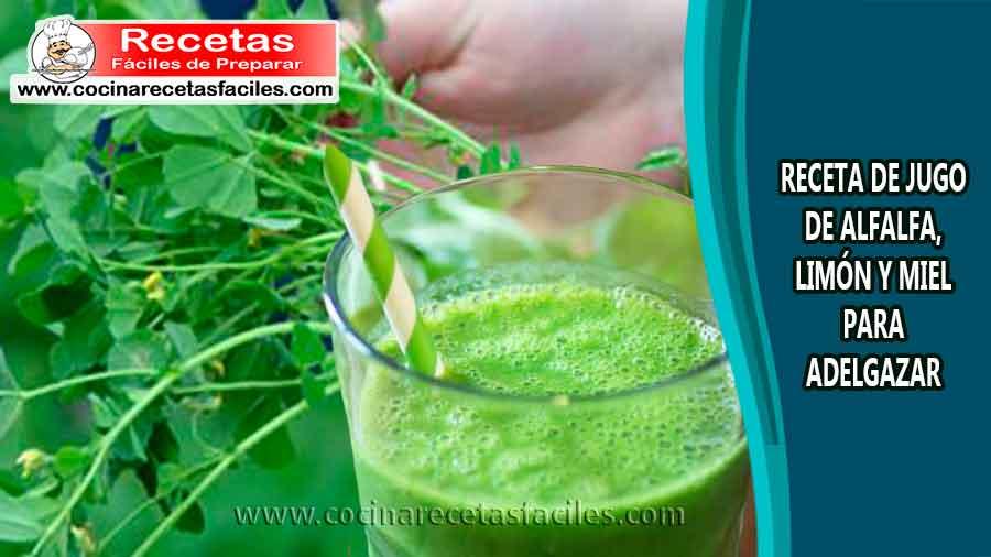 Licuado de alfalfa para bajar de peso