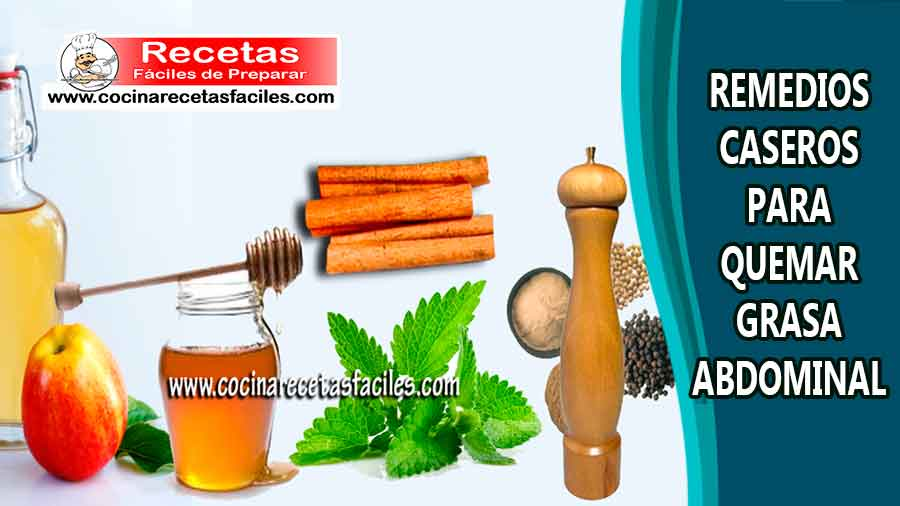 Remedios naturales para quemar grasa de abdomen