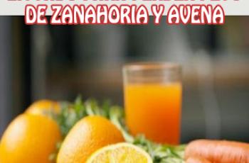 Licuado para perder peso de zanahoria y avena - Batidos adelgazantes