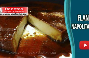 Flan napolitano casero tradicional - Vídeo recetas de postres y helados