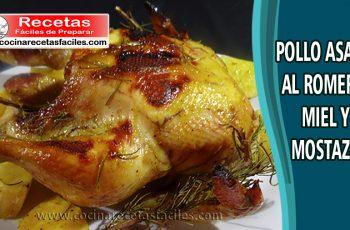 Pollo asado al romero, miel y mostaza - Vídeo recetas de pollo