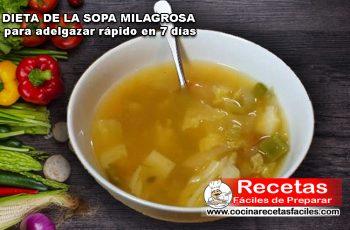 Dieta de la sopa milagrosa para adelgazar rápido en 7 días