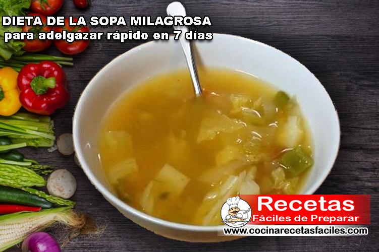 Dieta De La Sopa Milagrosa Receta Licuado Para Bajar De Peso Efectivo Si