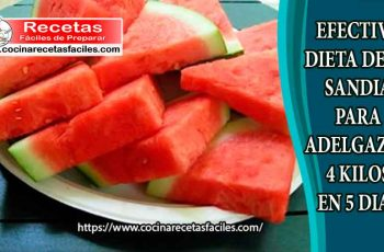 Efectiva dieta de la sandía para adelgazar 4 kilos en 5 días