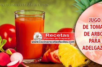 Jugo de tomate de árbol para adelgazar – Bebidas adelgazantes