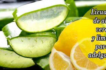 Licuado de aloe vera y limón para adelgazar