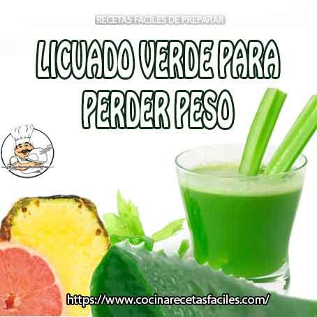 Licuado verde para perder peso de toronja y piña