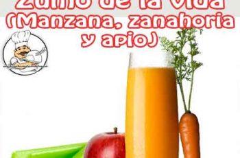 Zumo de manzana, zanahoria y apio para perder peso