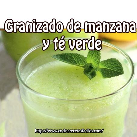 manzanas,té verde,menta,limón,jengibre,endulzante