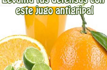 jugo antigripal casero - Recetas de jugos medicinales