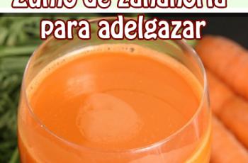 Zumo de zanahoria para adelgazar