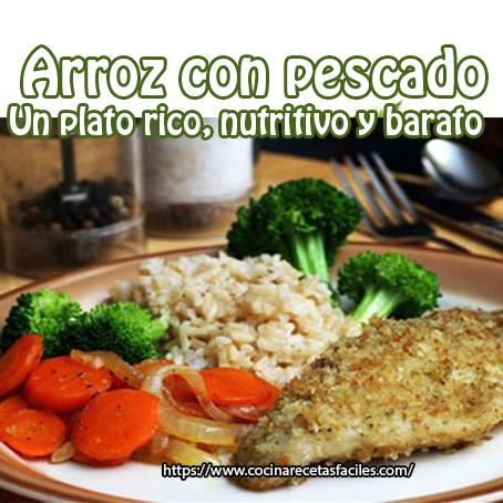 aceite, ajo, almuerzo, cebolla, filetes pescado, harina, huevos, limón, pimiento, receta, sal, Recetas de arroz, Recetas de pescado,