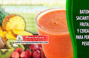 Batido saciante de frutas y cereales para perder peso