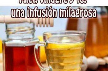 Infusión milagrosa de té con miel y vinagre