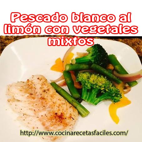 pescado,limón,sal,pimienta,vegetales,vinagre