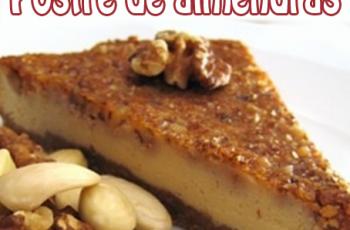Postre especial con almendras - Recetas de postres y helados