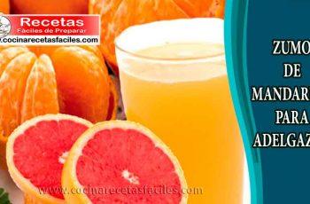 Zumo de mandarina para adelgazar