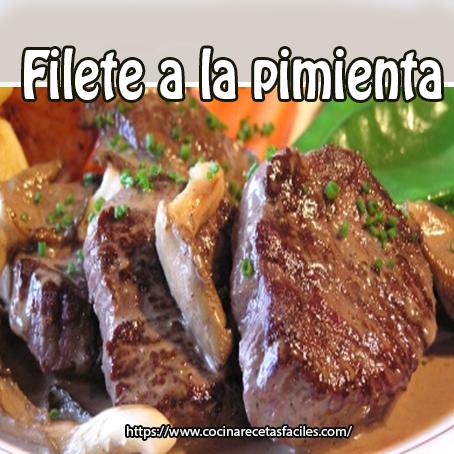 filetes,pimienta,mantequilla,caldo carne,coñac,crema líquida,sal,