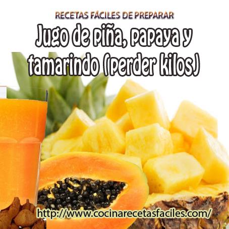 piña,tamarindo,papaya