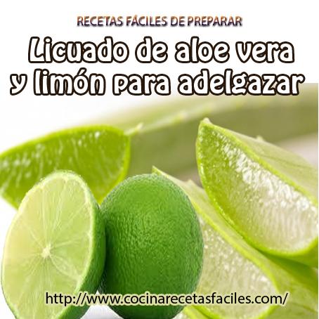 Sabila para adelgazar con limon