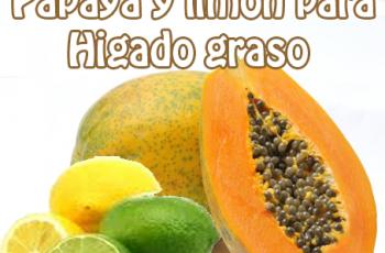 papaya-y-limón para hígado graso