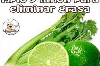 Apio y limón para eliminar grasa