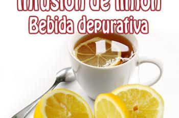 Receta de infusión de limón depurativa
